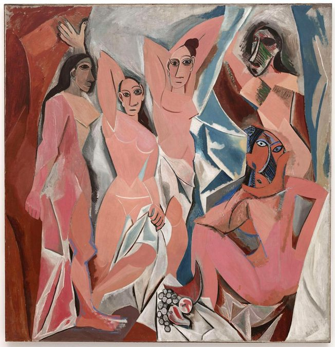 Pablo Picasso. Les Demoiselles d'Avignon, 1907. Oil on Canvas, 243,9 x 233,7 cm